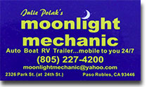 Moonlight Mechanic serving Paso Robles since 2009