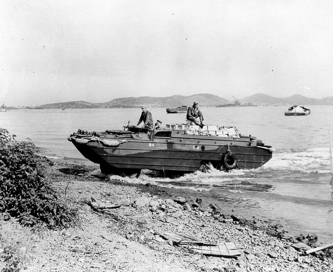 Dukw Landing in the Pacific